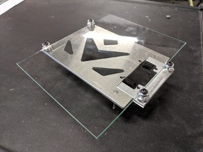 Glass build plate mod for dremel 3D20