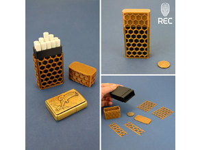Cigarette case wth honeycombs