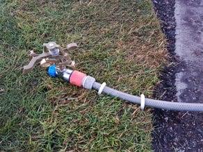 Garden Hose anchor clamp to grass