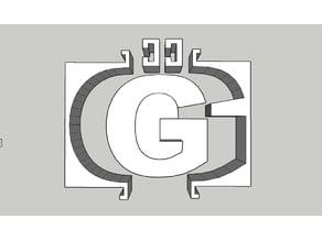 "Concrete mold for letter ""G"""