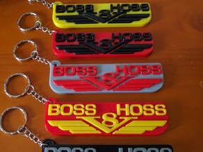 Boss Hoss V8 keychain