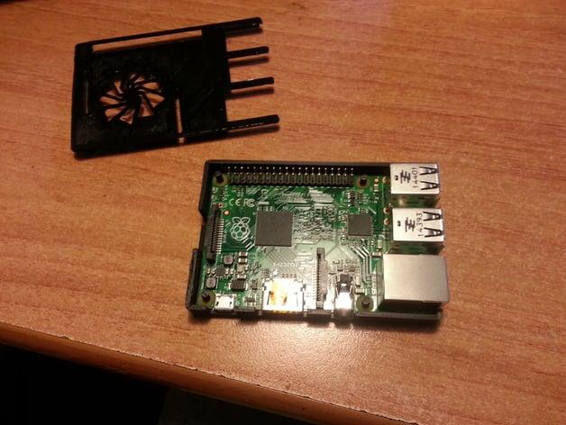 Raspberry Pi case (model B+) w/ Chatt Library Logo by Alban