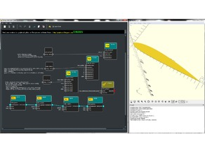 customizable naca airfoil created with graphscad