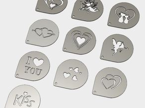 Valentine Day Coffee Decoration Templates
