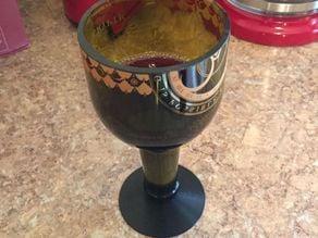 Cut Bottle Wine Glass