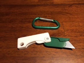 Folding Utility Knife with carabiner lock