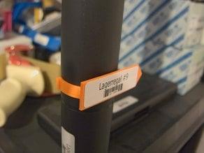 Label-clip for shelf