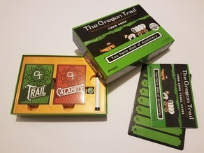 The Oregon Trail Card Game Insert