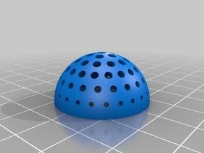 Perforated hemisphere