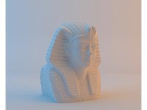 Egyptian Pharaoh Tutankhamun's Bust - 3D Scan