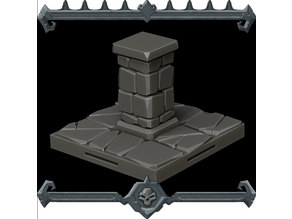 GOTHIC CITY Pillar Tile - JOIN OUR Monster Miniature PATREON