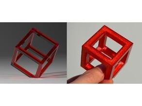 Self-standing cube