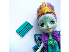 Hairbrush for toy doll puppet