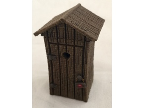 Privy with interior (28mm scale)