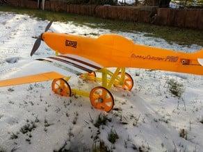 RC dolly for small planes (e.g. 3Dlabprint 1:12 warbirds)