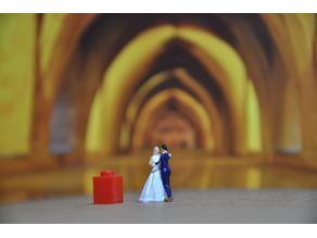 Dancing wedding couple 1/87 scale (H0)