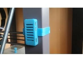 Wanhao i3 Plus Pi Zero case frame mount