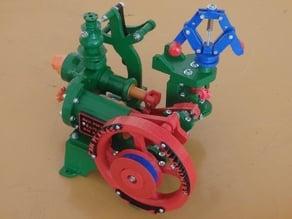 Maqueta de maquina de vapor / Model of steam machine
