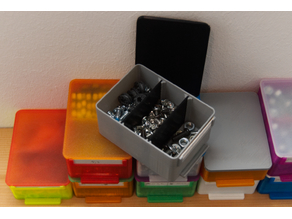 little boxes - with handle, tag, separators and lid
