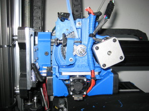 Reinforced Carriage, Taller Extruder mount and Left side fan duct for using E3DV6 with a lulzbot Taz Printer