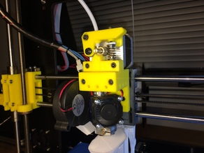 Customizable direct drive extruder for E3D v6 hotend for Prusa i3 / Wilson / Geeetech