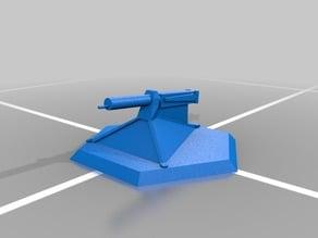 Board Game Piece - German Machine Gun, WW1
