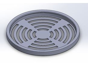 Exhaust Fan Cover Replacement - 12'' Round Duct Snap-on