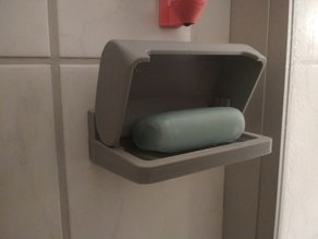 shower wall soap holder with cover