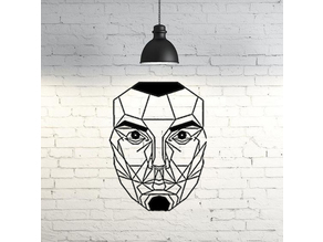 Face wall Sculpture 2D