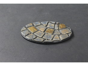 OpenForge Miniature Bases: Cobble (Oval)