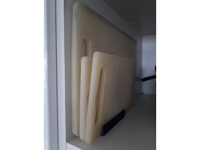 Vertical cutting board holder