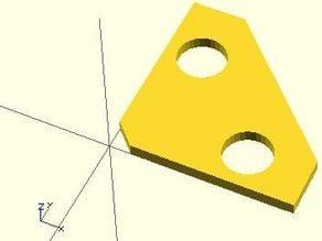 Customizable square clamp