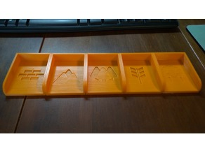 Magnetic Catan Card Trays