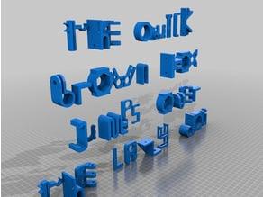 Thingiverse Font