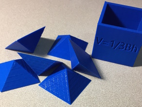Visual Proof of Volume of a Pyramid