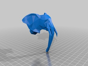 symmetric low poly elephant