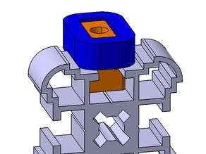 T-slot block and spacer for Velleman K8200 (Alfer Coaxis 27,5)
