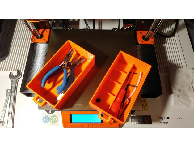 Prusa Mk3 Drawer, Tool box, Easy print by Duke194