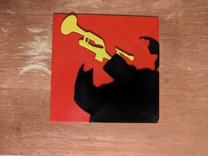 Multicolor Louis Armstrong print for single extruder printers