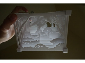 Layered Landscape 3D printable Version