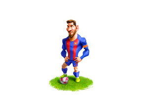 Messi Bust