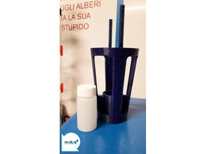 Vial test tube holder