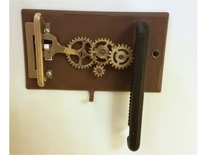 steampunk gear rack and pinion light switch