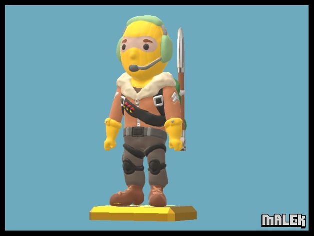 Fortnite Raptor Mini Figure By Malek Thingiverse