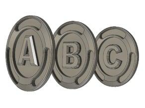 ABC / Alphabet - bucks (Fortnite V Bucks style)