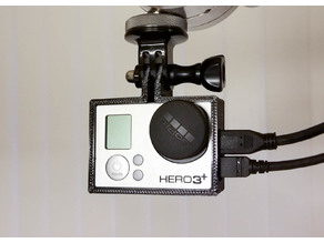 GoPro Hero 3 Improved Top and Bottom Frame Mounts