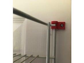 Bracket for Cupboard Door Wire Shelf