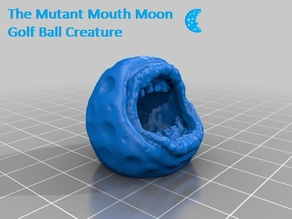 Mutant Mouth Moon Golf Ball Creature