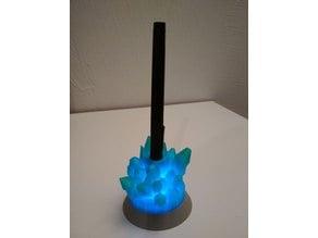 Glowing crystal penholder