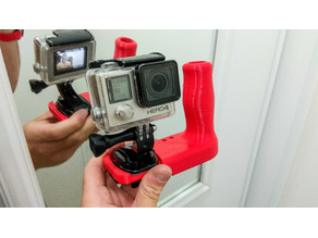 Double GoPro Diving Handle
